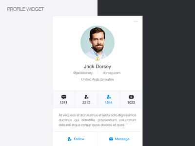 User Profile Widget profile widget user profile social network member profile widget profile ux user website card stock dubai