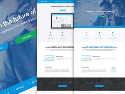 Landing Page Concepts- Borsa Arabia user interface icons website design homepage page concept ui ux dubai uae website