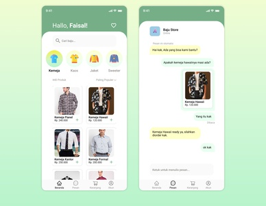 Online Shop flat minimalist online shop app shop branding mobile ux ui design