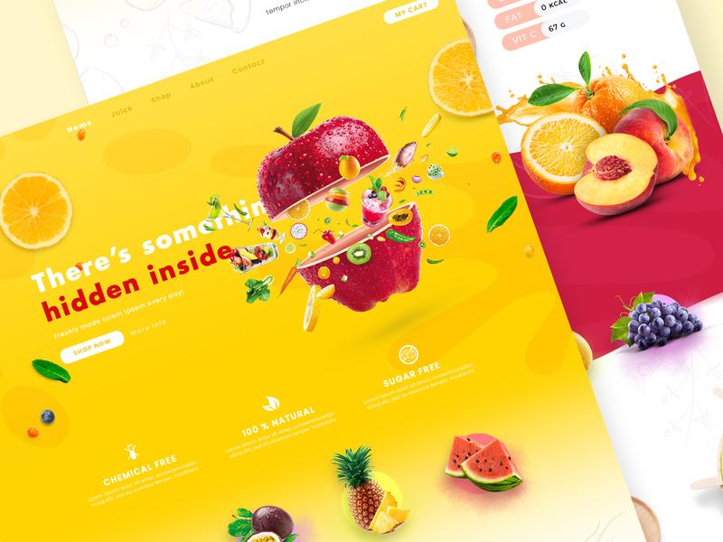 Splash - A Fruit Juice Bar Web UI website design web design webdesign website web uidesign ui design ui logos logo design logo logodesign illustration graphicdesign designer design art design creative