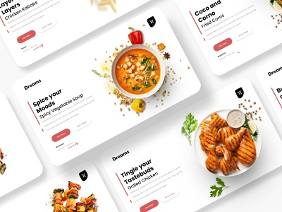 Grilled Dreams - Web UI for a food store website design webdesign web design website web ui ux logos logo design vector logodesign graphicdesign designer design art design creative
