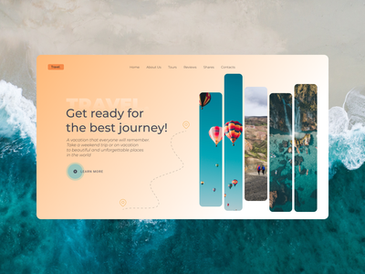 Tourist Agency web design travel web design shot design
