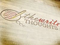 "The ""Write"" Thoughts logo"