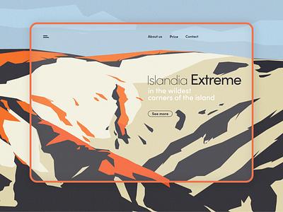 Website for travel agency ux ui photoshop art branding design website design web design website web illustration minimalistic