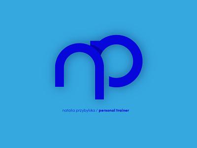 Logo / Personal trainer gym fitness personal trainer website typography logo vector minimalistic art design branding