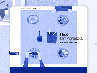 Portfolio website blue minimal branding ux ui design illustration art minimalistic website design website web design web