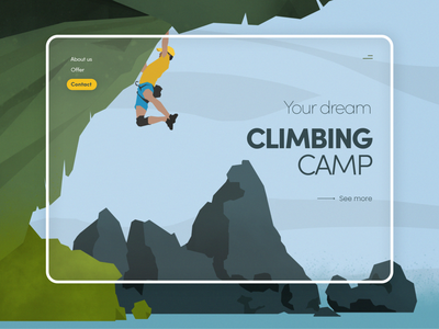 Climbing camp website minimal ui ux branding design art illustration minimalistic website design web design website web