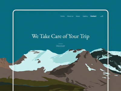 Travel website / 2021 travel mountain design branding web design ux ui illustration art minimalistic website design webdesign website web