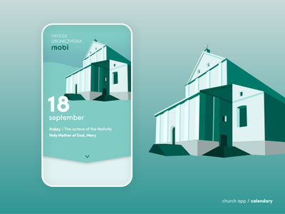 Church app / calendary website design web design website web illustration minimalistic art church design church app design app ux ui