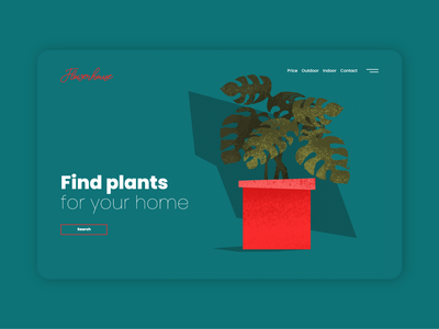 Flowerhouse / website flowers flower design art minimalistic vector website design web design ux ui website web