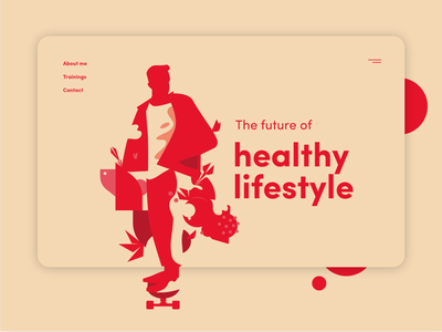 Concept of a website sport health skateboard fit art minimalistic branding illustration web website design web design website ux ui
