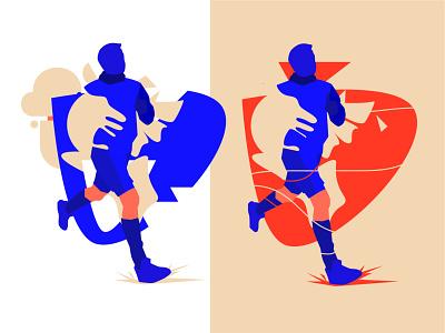 Runner sport runner run vector branding illustration design art minimalistic