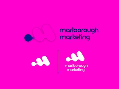 Marlborough marketing logo brand identity marketing minimal typography vector logo art design branding minimalistic