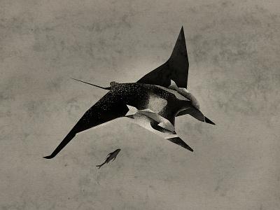Sea devil books sea seadevil animals textures vector design illustration art minimalistic procreate