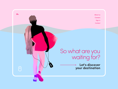 Discover / Website surfing sport graphic design art design illustration ui web website minimalistic