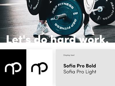 Personal trainer brand fit gym fitness sport design minimalistic art branding logo vector web website