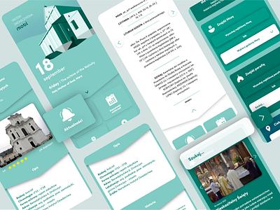 Church app / calendary church calendary mobile minimalistic art design illustration branding vector ui web website