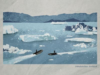 Jökulsárlón / Iceland vector photoshop book blue winter cold iceland design illustration art minimalistic