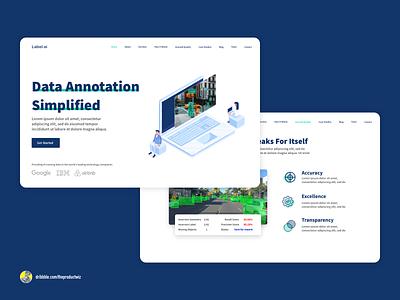Label.ai — SaaS Website product design website webdesign uiuxdesign uiux web ui design