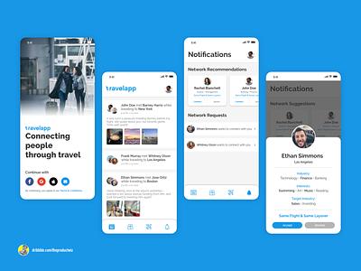 TravelApp — Airport Networking App uiux design ui  ux ux branding product design design productdesign app appdesign uiuxdesign uxdesign uidesign travelapp startup uiux ui