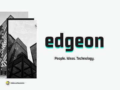 Edgeon — Brand Identity Design technology ideas people visual identity logo design logodesign branding design brand brand design brand identity branding logo design