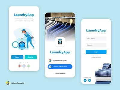 Laundry App Login Concept design app mobile app design mobile design mobile ui app design ux  ui ux design uxdesign uxui ui design ui  ux uidesign ux appdesign app uiuxdesign ui uiux product design design