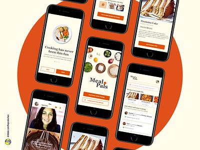 MealPals — Virtual Shared Cooking App ui ui ux cooking app ux process case study ux design ui design uidesign design uiuxdesign uxdesign mobile app uiux ux