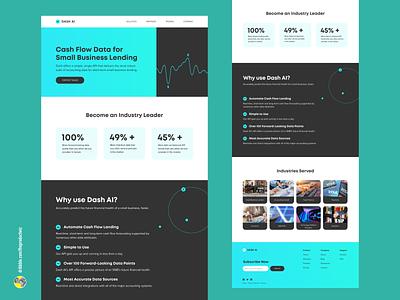 Dash AI - SaaS Landing Page uidesign landing page design website design landing page saas ui ui design branding uiux uiuxdesign design