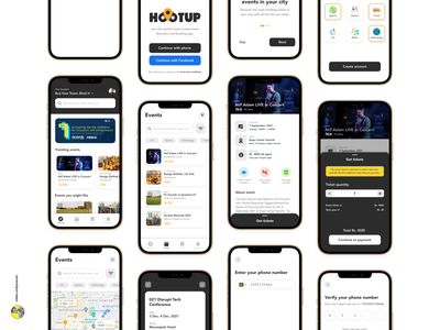 Hootup — Event Discovery & Booking App booking booking app ticket booking ticket app ticket event app event booking event uxui ux ui design ui uidesign uiuxdesign uiux design