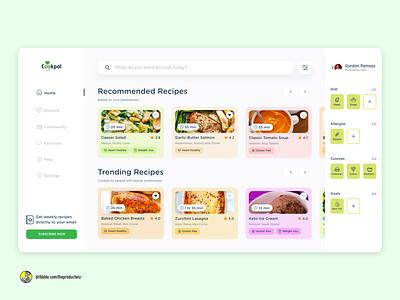 CookPal - Web App Design recipe web app recipe website website website design web app web app design soft ui soft design ui design ui uidesign uiuxdesign uiux design