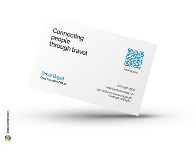 TravelApp — Business Card Design graphic design app travel carddesign card design businesscard business card card logo branding design