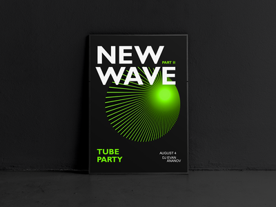 Poster for a rave night club mockup cinema4d typogaphy lights green rave 3d posters logo illustrations design brand billboards