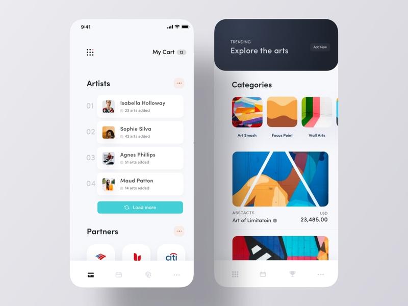 Exploring Artist App screens
