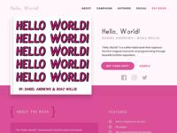 'Hello, World' Book Landing