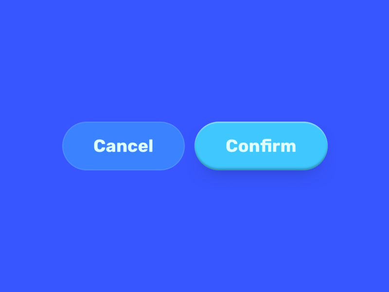 Buttons! depth shadow blue buttons ui