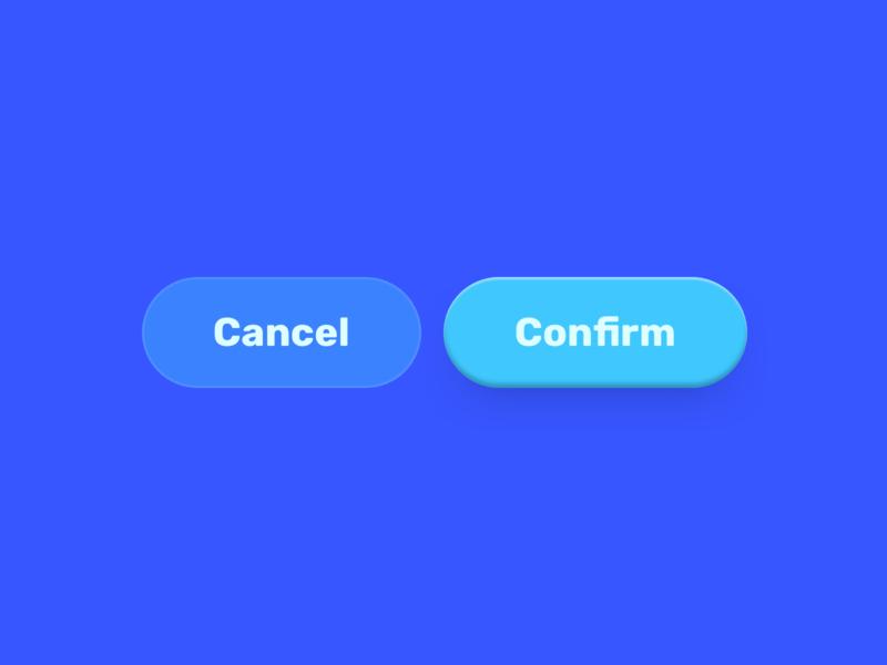 Buttons! depth shadow blue buttons ui