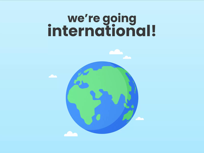 Lido goes international! global middle east globe world international animation school elearning learn 2d education ui design vector study illustration