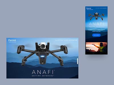 Parrot Anafi — UI responsive landing page motion design motion homepage design website landing page web immersive landing 3danimation drone uidesign ux 3d experience parallax mobile ui