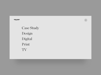 Rosapark — UI portfolio hover animation and menu closing filters interaction hover animation animation website design web userexperience ux design ux userinterface ui design ui case study portfolio agency website rosapark hover navigation