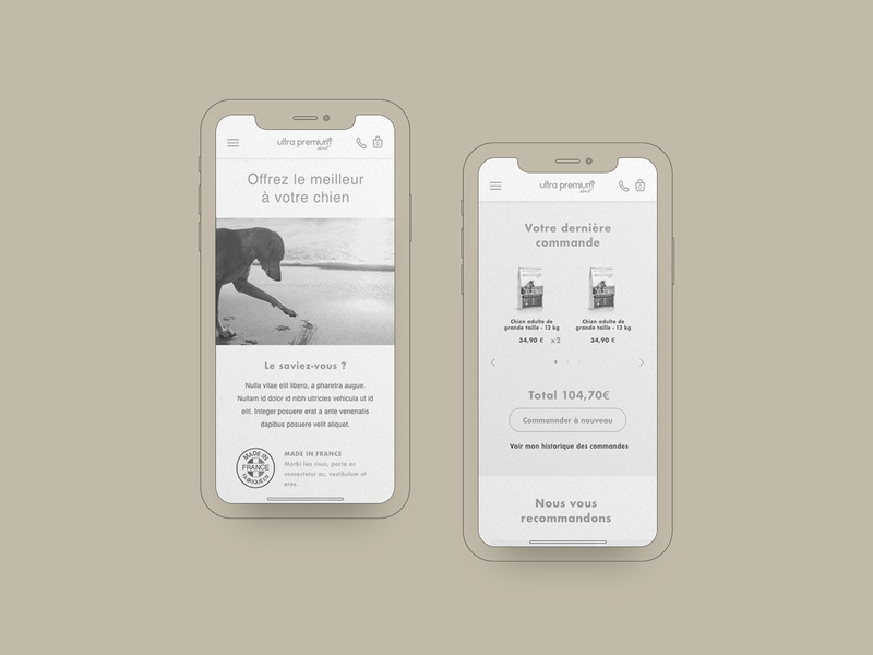 Ultra Premium Direct — Pets food e-commerce wireframe website web userexperience uxdesign ux mobile first dogs cats pets food pets animal ecommerce ultra premium direct wires wireframe