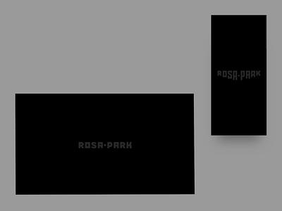Rosapark — UI responsive portfolio loader animation with logo agency website portfolio website userexperience userinterface ui design mobile desktop responsive branding motion logo animation animation loader animation loading animation loading loader