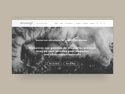 Ultra Premium Direct — Pets food e-commerce wireframe project case study website web userexperience ux design desktop dog food cat food animals ecommerce ultra premium direct wires wireframe