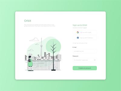 Daily UI #001 - Sign up dailyui app ui design