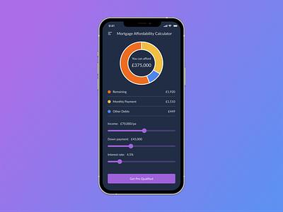 Daily UI #004 - Mortgage Calculator app ux ui design dailyui