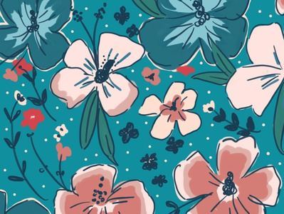 Floral illustration pattern floral design floral pattern botanical pattern digital illustration illustration