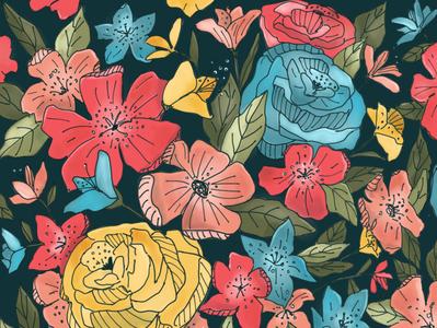 Floral design floral pattern pattern botanical pattern botanical illustration digital illustration illustration