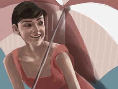 Woman with an umbrella women in illustration digital art woman portrait woman woman illustration illustration art digital illustration illustration