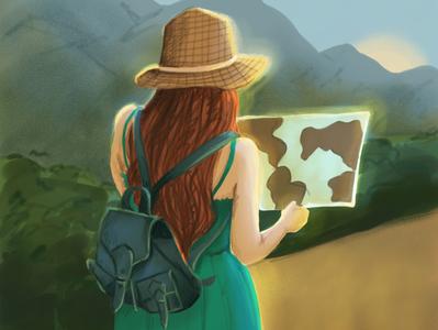 Travel woman adobe sketch travei illustration travel woman woman illustration illustration art digital illustration illustration
