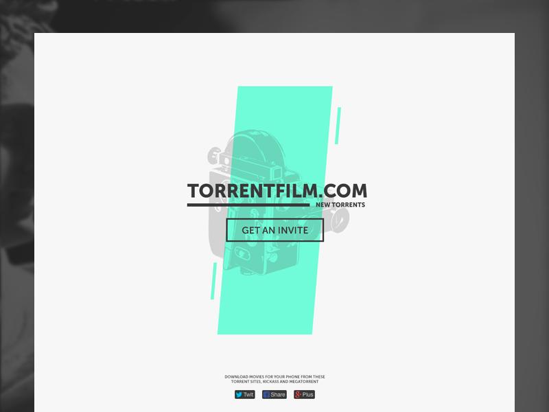 TorrentFilm (Promo) ui ux web site landing promo torrent film