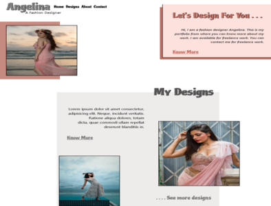 Fashion Designer Portfolio